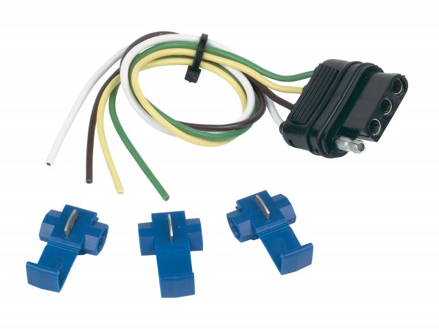 4 Wire Flat Vehicle End with splices