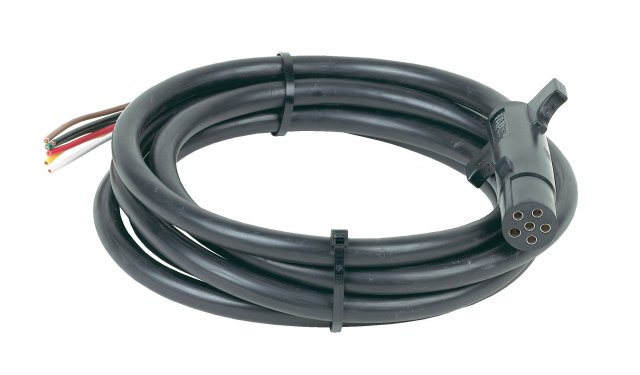 6 Round Connector w/ Cable, 6'