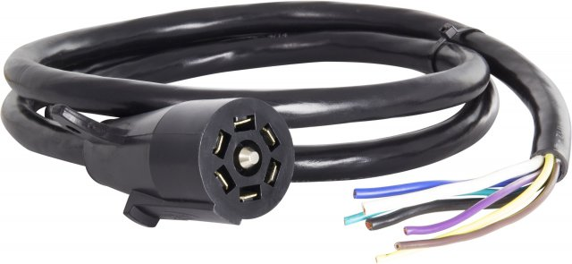 7 Blade Molded Connector w/ Cable, SAE Wiring, 6'