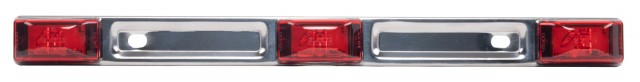 Sealed Identification Light Bar with SS Base, Red