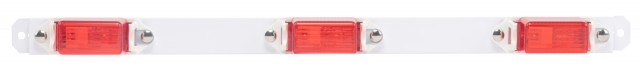 Identification Light Bar with White Steel Base, Red