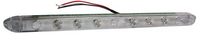 LED Low-Profile S/T/T Light Bar, Clear Lens/Red LEDs
