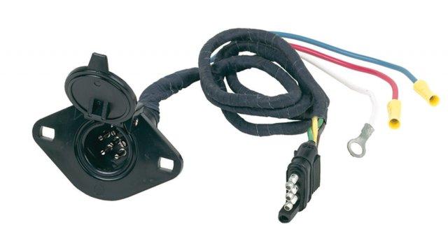 4 Flat to 6 Round Wiring Kit