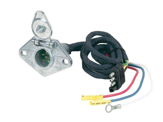 4 Flat to 6 Round Wiring Kit (metal)