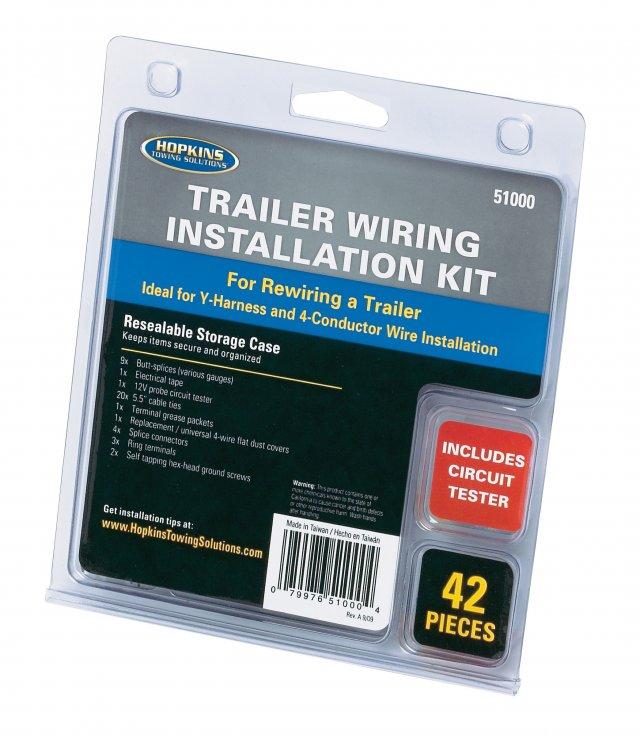 Trailer Wiring Installation Kit, 42 pieces