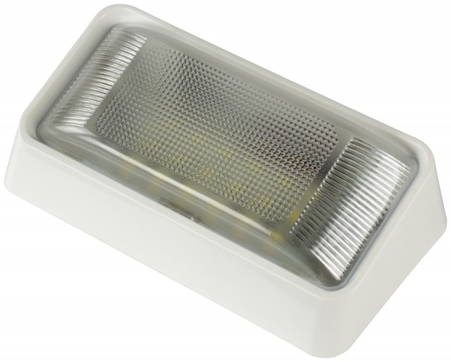 LED Rectangular Porch and Utility Light with On/Off Switch