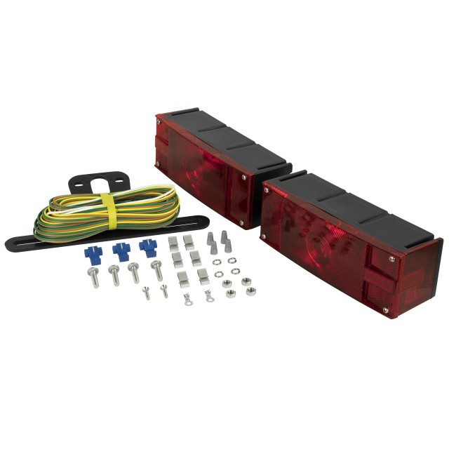 Submersible Low-Profile Trailer Light Kit for Trailers Over and Under 80