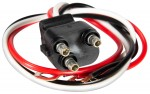 Straight 3-Wire Pigtail for Stop/Tail/Turn Lights