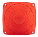 Square Combination Stop/Tail/Turn Replacement Lens, Red